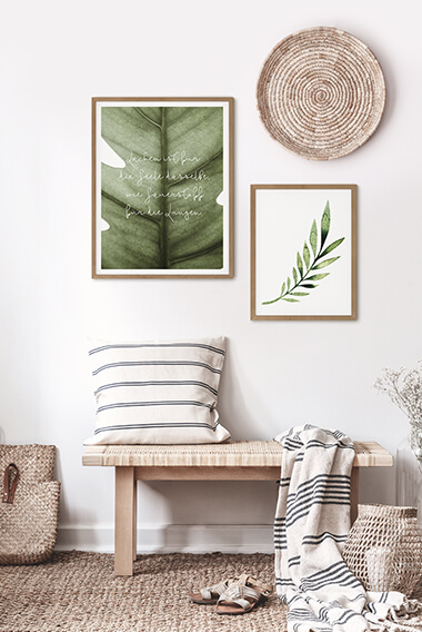 Assortiment affiches avec cadres - Nature verte