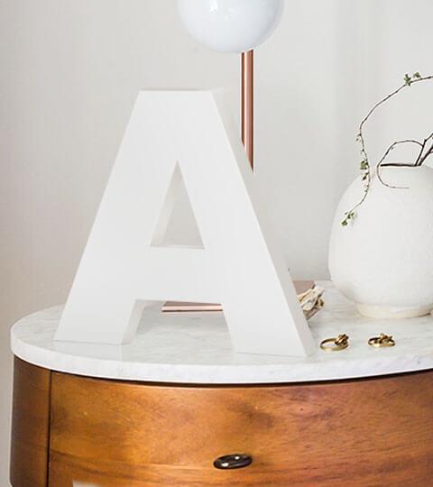 Lettres 3D Simples